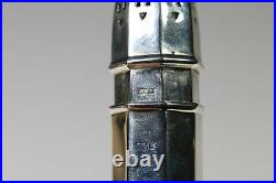 SUPERB ENGLISH SOLID STERLING SILVER MUFFINEER SUGAR CASTER SHAKER 1964 75g