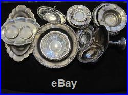 Scrap Sterling Silver Lot 5 lb None Weighted. Solid Sterling. Bowls. Trays