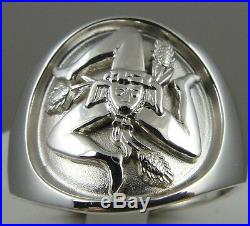 Sicilian Trinacria ring Jewelry Solid. 925 sterling silver mens size 12