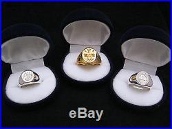 Signet Ring Vie Savoir Mort Honneur & Crown Skull Solid Silver 925 By Joller