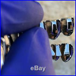 Solid 925 Sterling Silver Grillz 8 Top & Eight Bottom Teeth Set Premade Grills