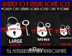 Solid 925 Sterling Silver Infinity Cuff Locking BDSM Slave Sub Day Collar & Lock