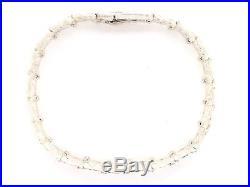 Solid 925 Sterling Silver Nugget Bracelet Adjustable 8 9.3mm 21.2 Grams