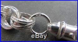Solid Heavy Sterling Silver Plain & Patterned Belcher Chain 26- 104 grams