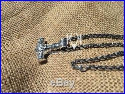 Solid Silver Sterling 925 THOR'S HAMMER MJOLNIR MJOLLNIR MJÖLNIR VIKING PENDANT