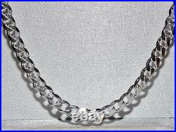 Solid Sterling Silver 20 inch Curb Chain 6mm Wide 32.5 grams Men's or Ladies