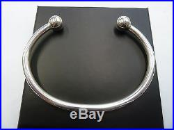 Solid Sterling Silver. 925 Gent's Torque Bangle 33 grams 10mm balls Heavy