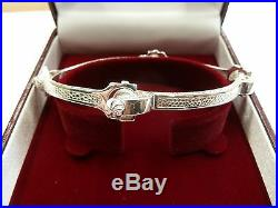 Solid Sterling Silver. 925 Spanner Bangle Ladies 23 grams