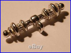 Solid Sterling Silver Fancy T-Bar for Albert Chains 31mm-Watch Fobs- Necklace
