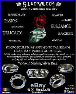 Solid Sterling Silver Handmade Skulls Templar Ring All Sizes Skull ring Biker