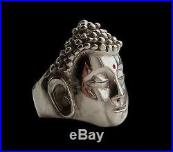 Solid Sterling Silver Reiki Hindu Buddha Ring All Sizes