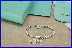 Solid Sterling Silver Tiffany & Co Bracelet Medium 7 a Gift For Her USAFreeShip