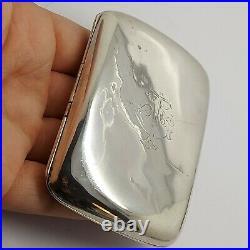 Solid sterling silver 925 Bz217-89 cigarette case 1933 C&S Co LD antique wow