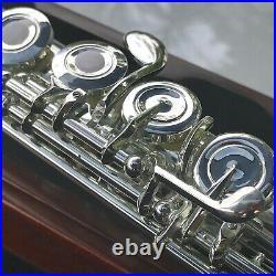Sterling SOLID 925 SILVER OHB Flute Oak Case Professional Free Express