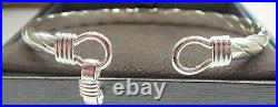 Sterling Silver Bangle. 925 Ladies 26 grams Hallmarked Hook Solid Heavy