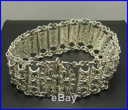 Sterling Silver Bracelet Solid 925 Handmade Vintage