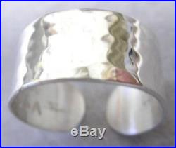 Sterling Silver HammeredToe Ring NEW, Hand made 1/4 width solid/Vartani /USA