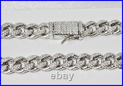 Sterling Silver Men's Cuban Curb Bracelet 9 INCH Solid 925 Silver