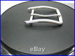 Sterling silver 925 solid buckle 32 grams, for 1-1/2 belt straps made in U. S. A