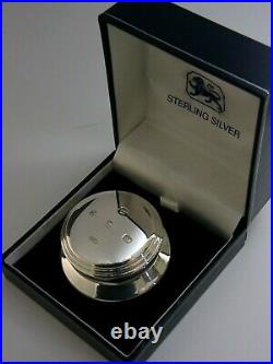 Superb English Solid Sterling Silver Desk Paperweight 2002 Boxed