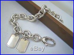 Superb Solid Sterling Silver Genuine Gucci Charm Bracelet 8 Heavy 53.5g Rare