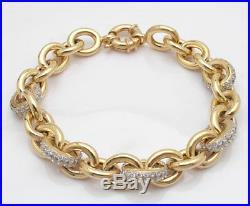 Technibond 14K Gold Clad Silver Rolo Link Bracelet