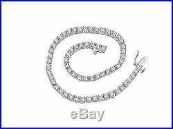 Tennis Bracelet 6.50 Ct Round Cut Diamond 14K Solid White Gold Over Prong Set 7