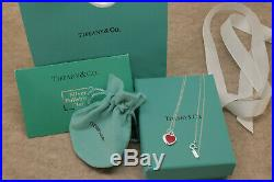 Tiffany & Co. Solid Sterling Silver 925 Necklace 16in New Red Gift For Her