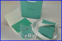 Tiffany & Co Solid Sterling Silver Bracelet Medium 7.25 Free USA SHIPPING PINK