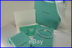 Tiffany & Co. Solid Sterling Silver Bracelet with Box Bag Gift for Her USA Ship
