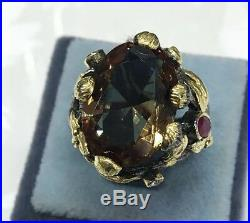 Turkish 100% Color Change Alexandrite 925 Solid Sterling Silver Ring 6 7 8 9 10