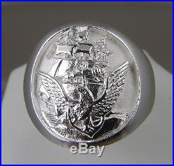 US Navy Licensed Official Navy Seal. 925 sterling silver ring size 10 solid