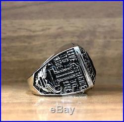 Unique Harley Davidson Solid 925 Sterling silver Men's Biker ring