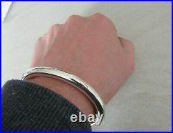 Very Heavy Men's Solid Sterling Silver Torque Bangle 70 + grams, New