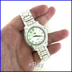 Very Nice Classic Fully Solid 925 Sterling Silver Mens Luxury Wrist Watch