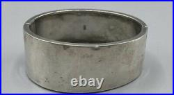 Victorian Solid Sterling Silver Wide Bangle 1882 Birmingham BHJ and Co 34g