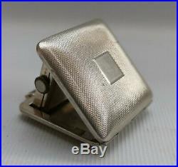 Vintage 1936 Horex CE Ltd Art Deco Solid Sterling Silver Pocket Purse Watch
