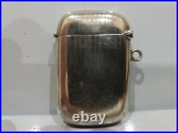 Vintage Antique Solid Sterling Silver Hallmarked Vesta Case Match Safe / 88/3