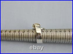 Vintage Georg Jensen Denmark Solid Sterling Silver Fold Over Ring Size N 1/2