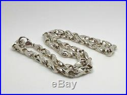 Vintage IBB Sterling Silver Solid Fancy Twist Link Heavy 18 Chain Necklace 50g