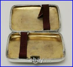 Vtg 1910 William Sparrow Solid Sterling Silver Cigarette Cheroot Holder Box Case