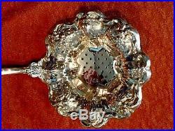 Wallace Grande Baroque Sterling Silver Solid Tea Strainer Rare No Mono