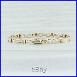 Women's Solid 14k Yellow Gold Over 1.00 Ct Baguette Diamond Tennis Bracelet 7